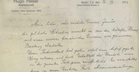 Lettre Jaurès - Allemagne